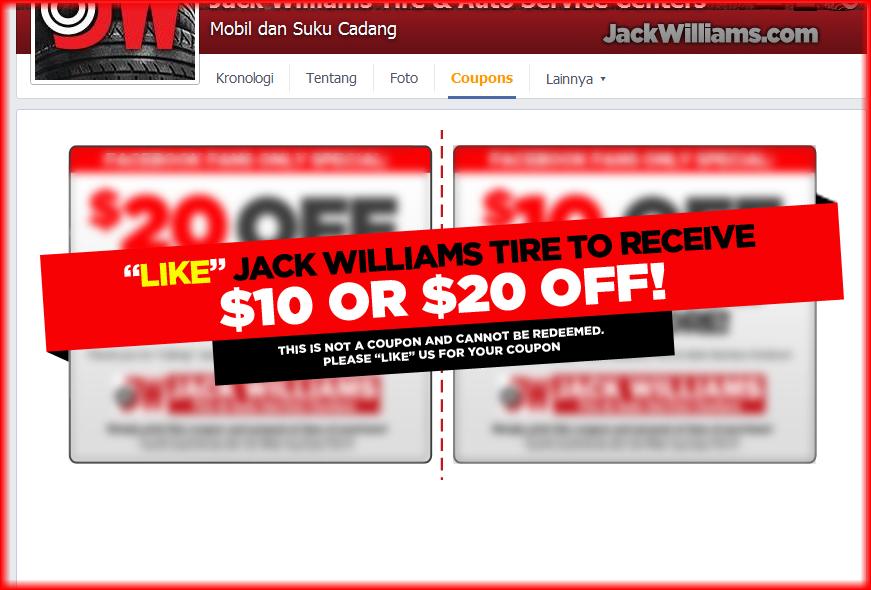 jack williams tire rebates