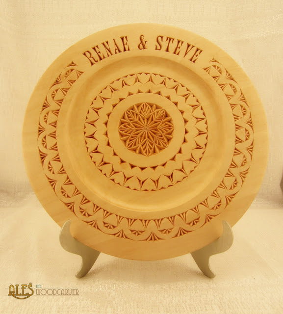 Ales the woodcarver chip carved wedding plate