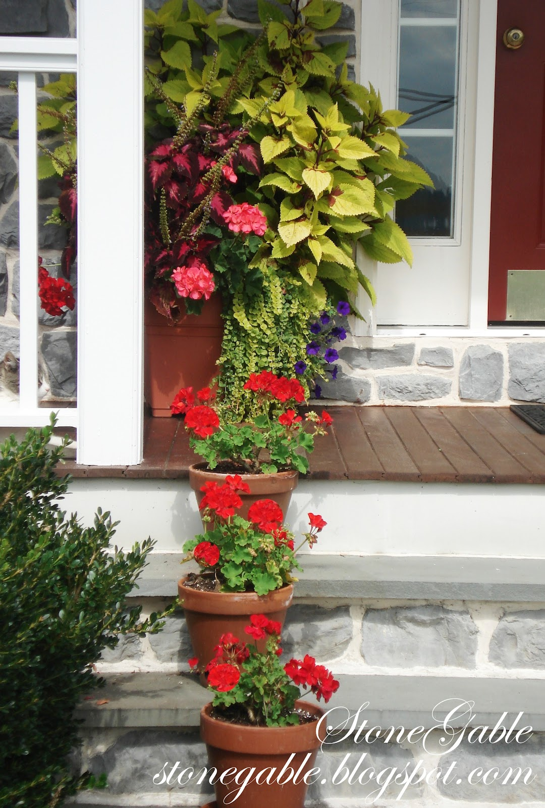 FRONT PORCH FLOWERS StoneGable
