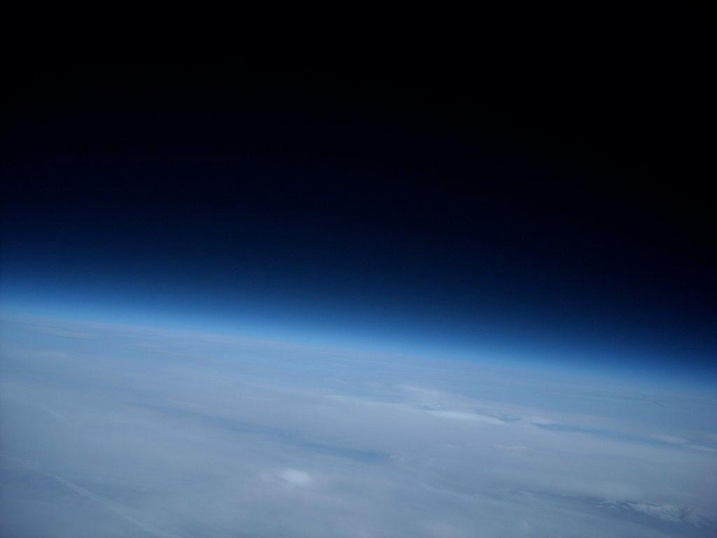 Atmósfera terrestre observada desde el espacio