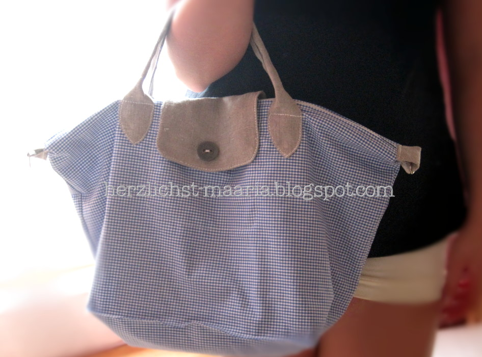 Maaria, made with love ♥: Neue Sommertasche: Le pliage by maaria