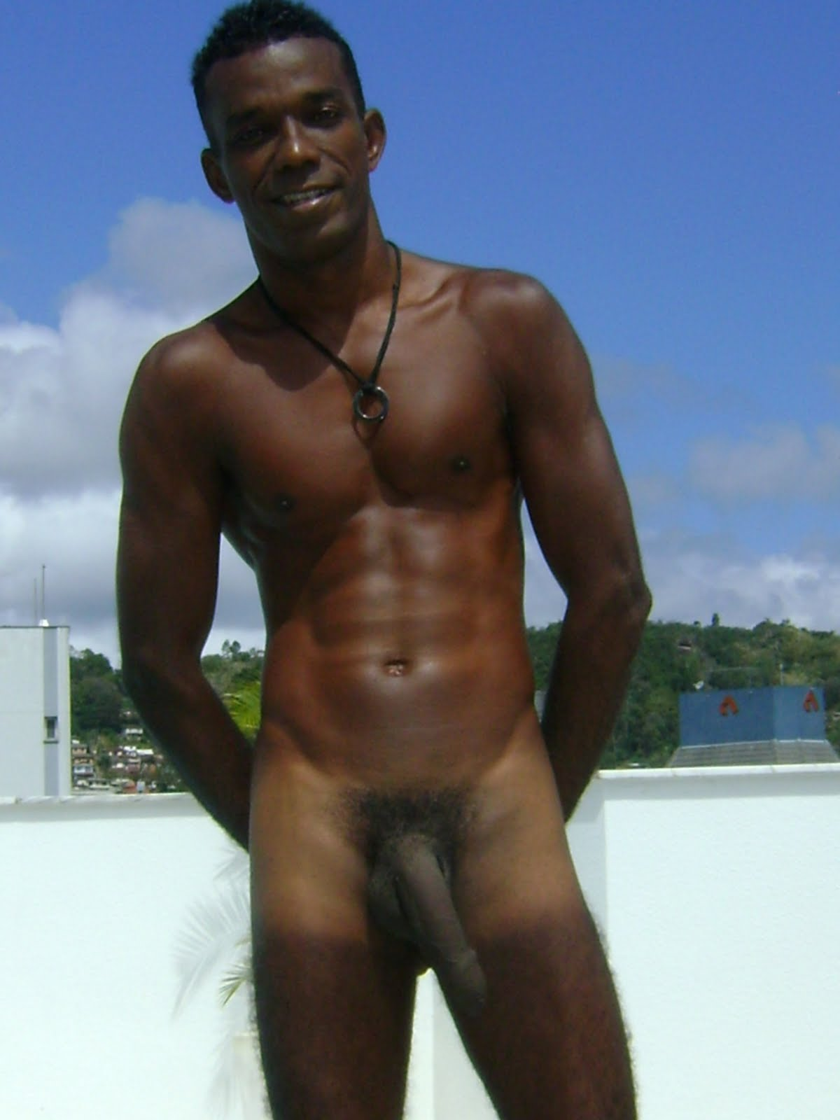 naked at beach Black boys
