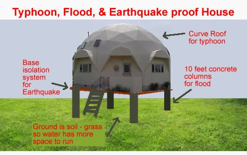 Typhoon flood earthqauke house designs for Earthquake resistant home designs