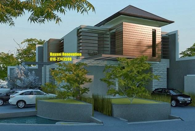 reka bentuk rumah semi banglo 2 lantai bayani home
