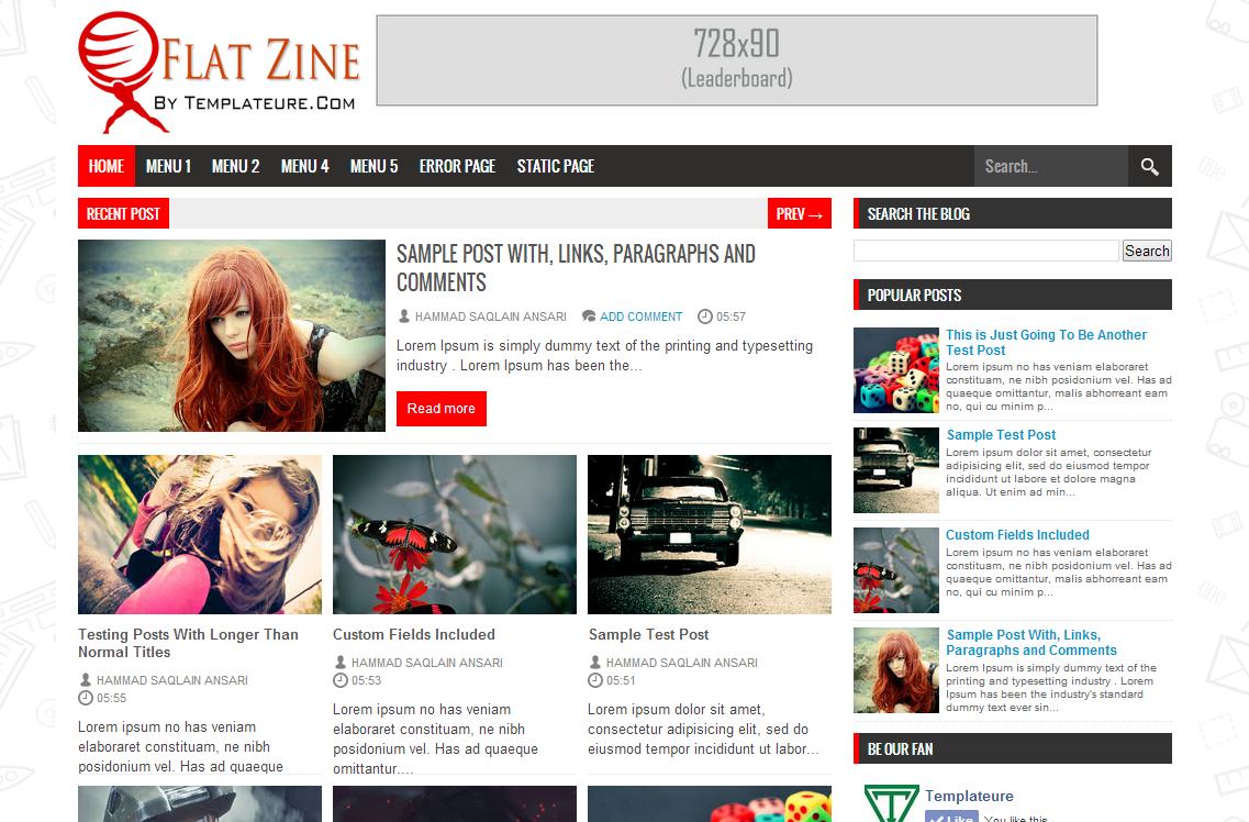FlatZine Blogger Template