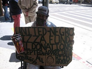 funny homeless sign pizza fund
