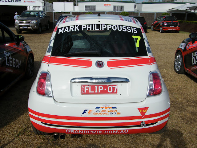 Mark Philippoussis' Aussie Racing car