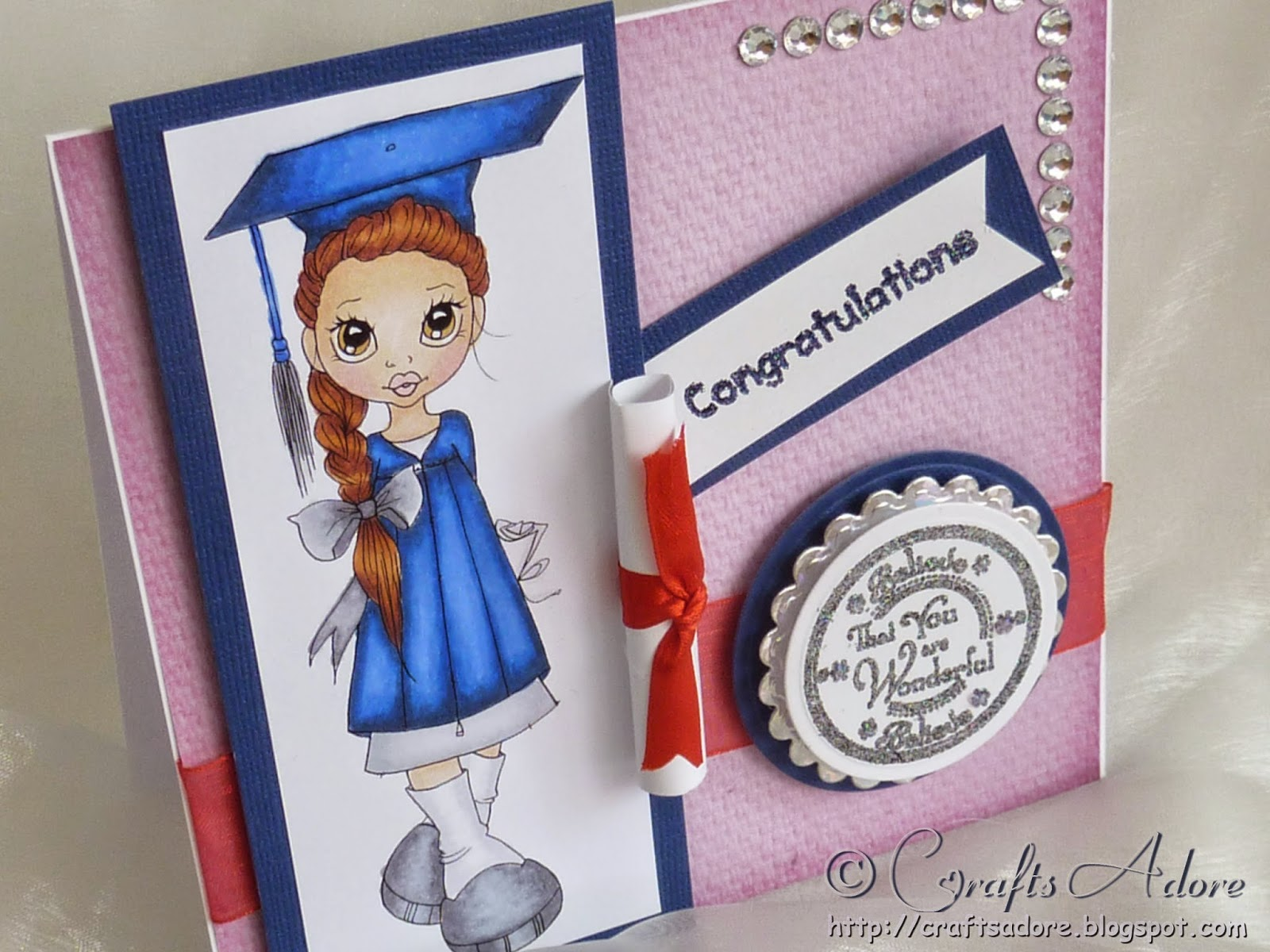 Saturated Canary Graduation Girl Congratulations Card