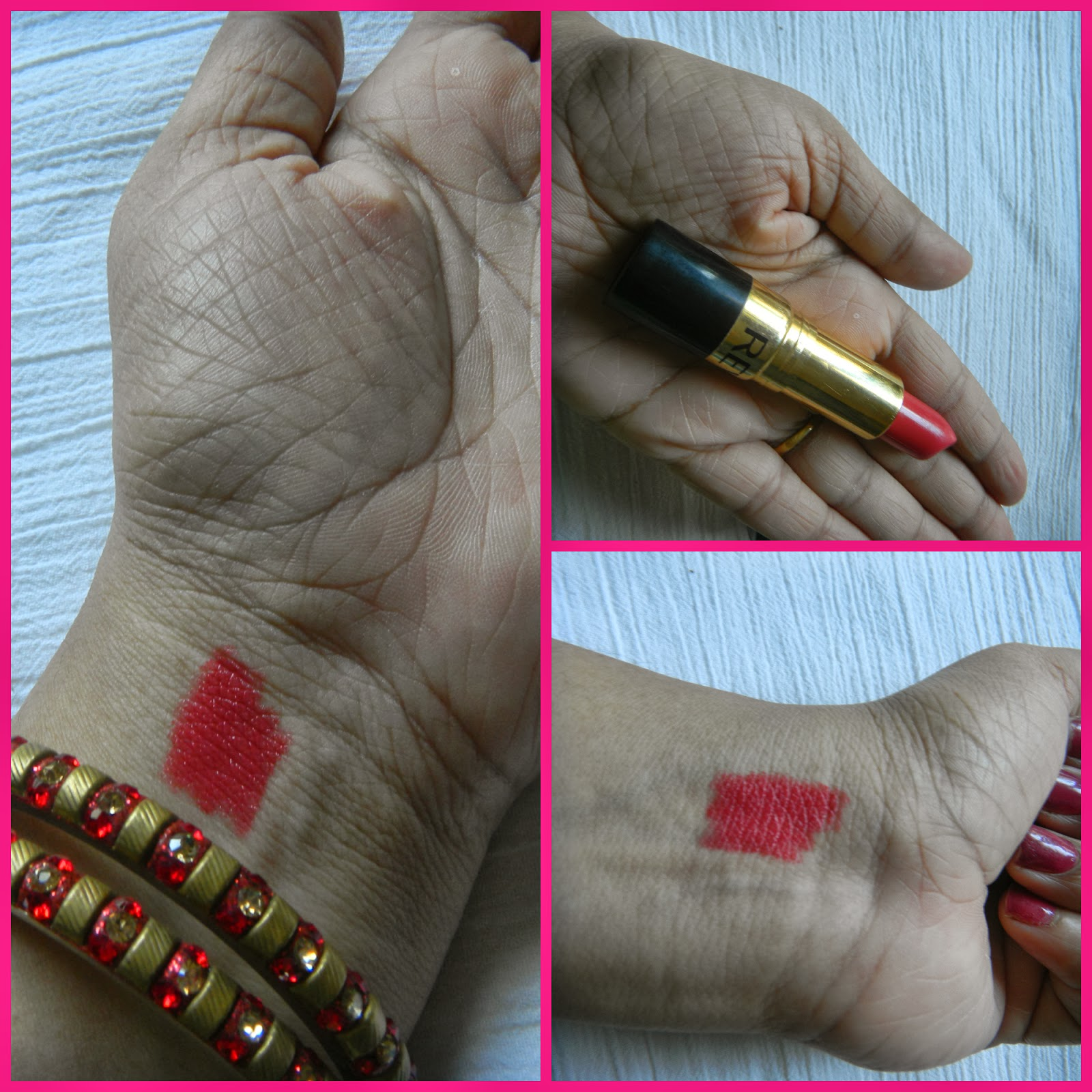 Revlon super lustrous lipstick cha cha cherry swatches