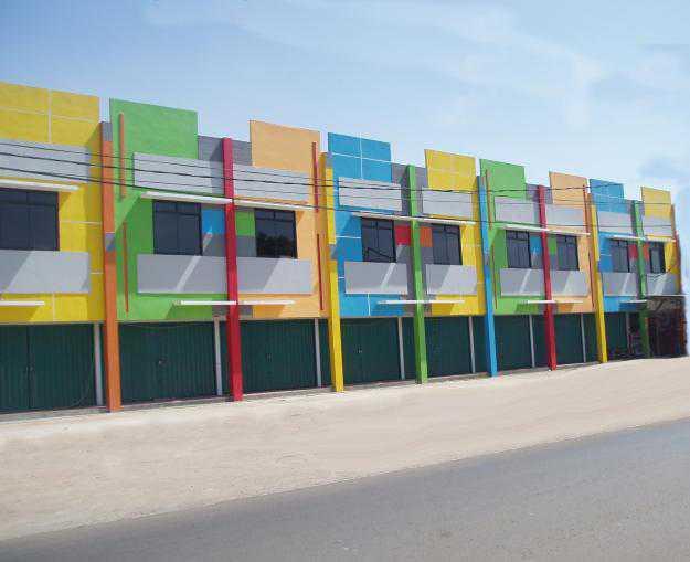 cat kombinasi warna untuk eksterior ruko billion paint
