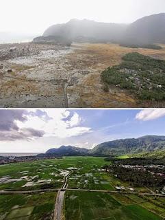 inilah wajah aceh 2004 silam pasca tsunami dan sekarang