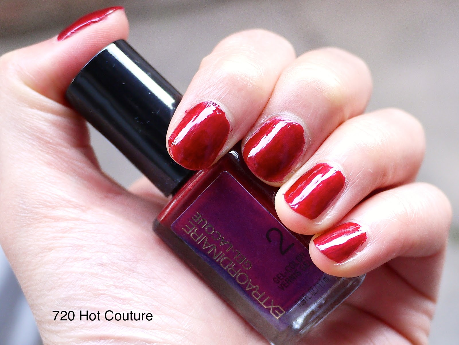 l'oreal extraordinaire gel-lacque 720 hot couture nail swatch