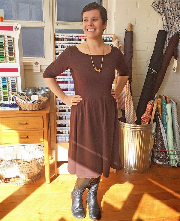 THE DRAPERY: Wintery Things to Sew: The Colette Moneta Dress