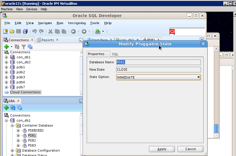 how to make a oracle sql database