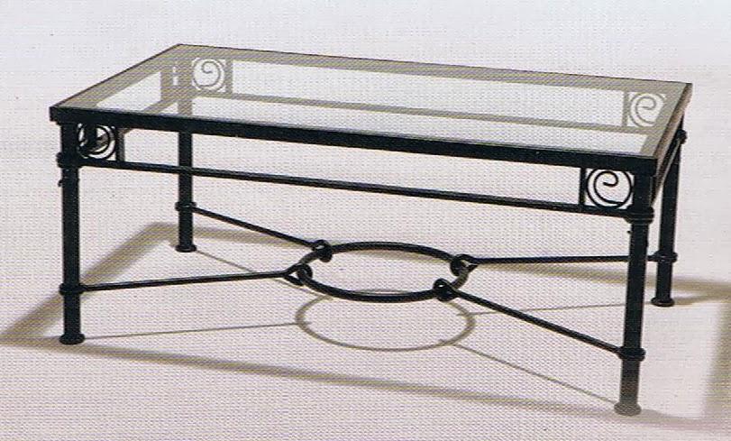 Mesas elevable y con brasero y para camilla en forja - Mesa de forja ...