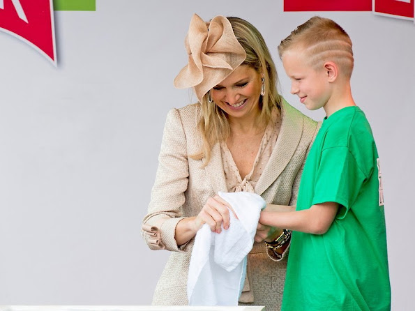 Queen Maxima of The Netherlands opened Care Education Center of royal Kentalis on May 22, 2015 in Zoetermeer, The Netherlands.