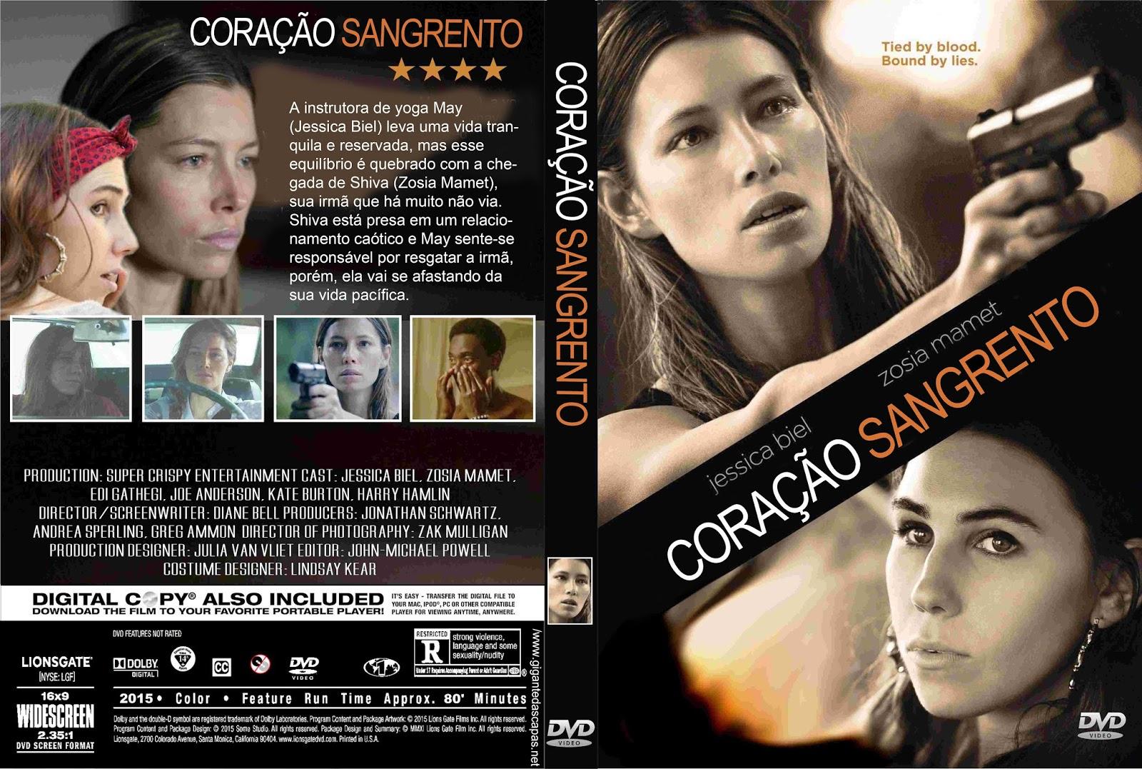 Coração Sangrento DVD-R Cora C3 A7 C3 A3o Sangrento   Capa Filme DVD