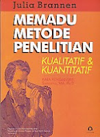toko buku rahma: buku MEMADU METODE PENELITIAN KUALITATIF DAN KUANTITATIF, pengarang julia brannen, penerbit pustaka pelajar