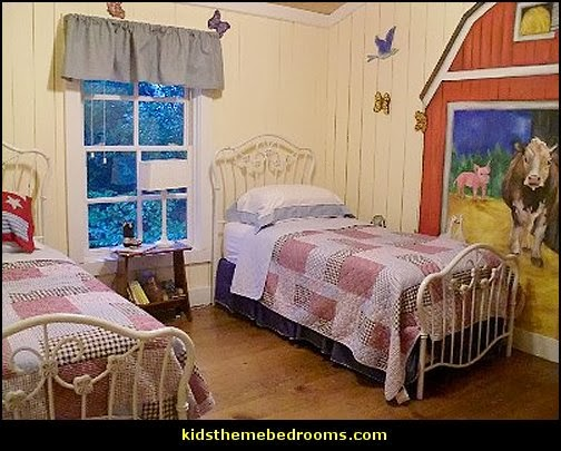 farm theme wall murals-farm theme bedroom decorating ideas