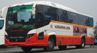 bus harapan jaya melayani jurusan jabodetabek, tulungagung, kediri