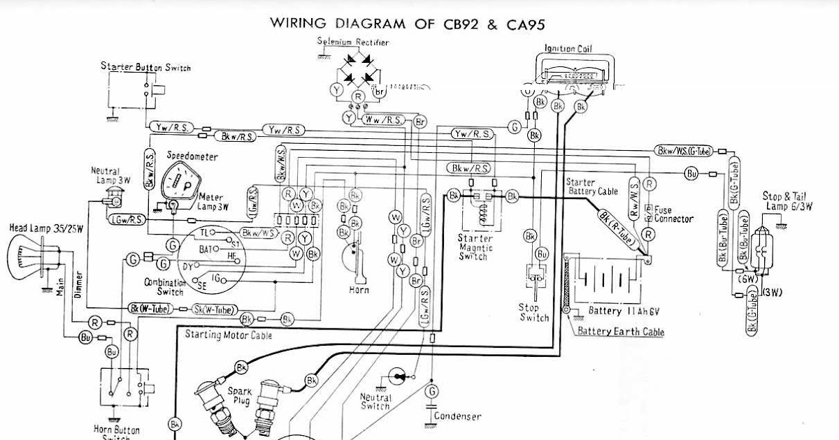 Electrical Wiring Diagram Of Honda Cb92 And Ca95