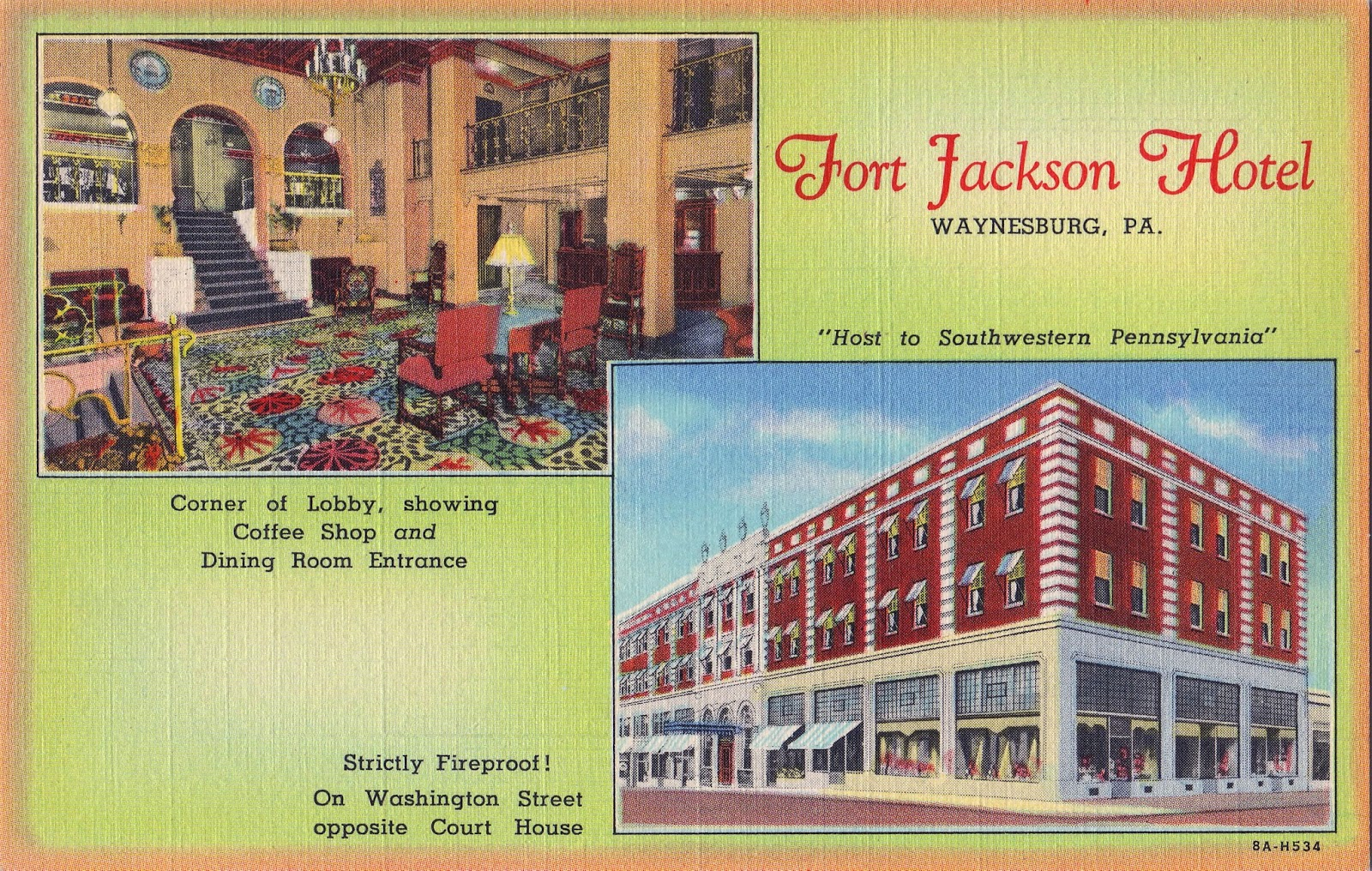 Exterior Red Brick And Limestone Cover The Modern Steel Beam Construction Of Fort Jackson Hotel Façade Was Decorated With Historically Inspired