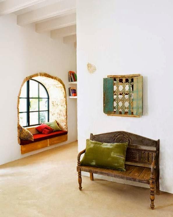 casa decorada con piezas recuperadas y vintage
