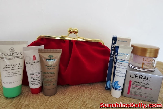 Bag Of Love Rock On Beauty Bag Review, bag of love, red velvet clutch, skincare, beauty box