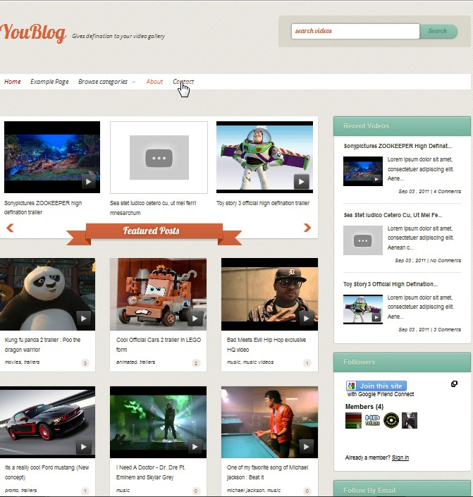 YouBlog Video Template Collection