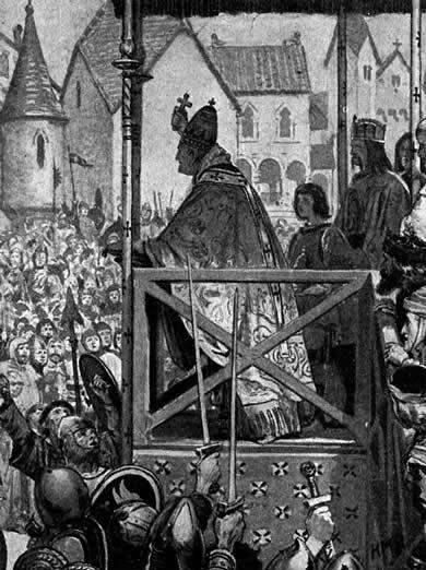 Beato Papa Urbano II convocó las Cruzadas