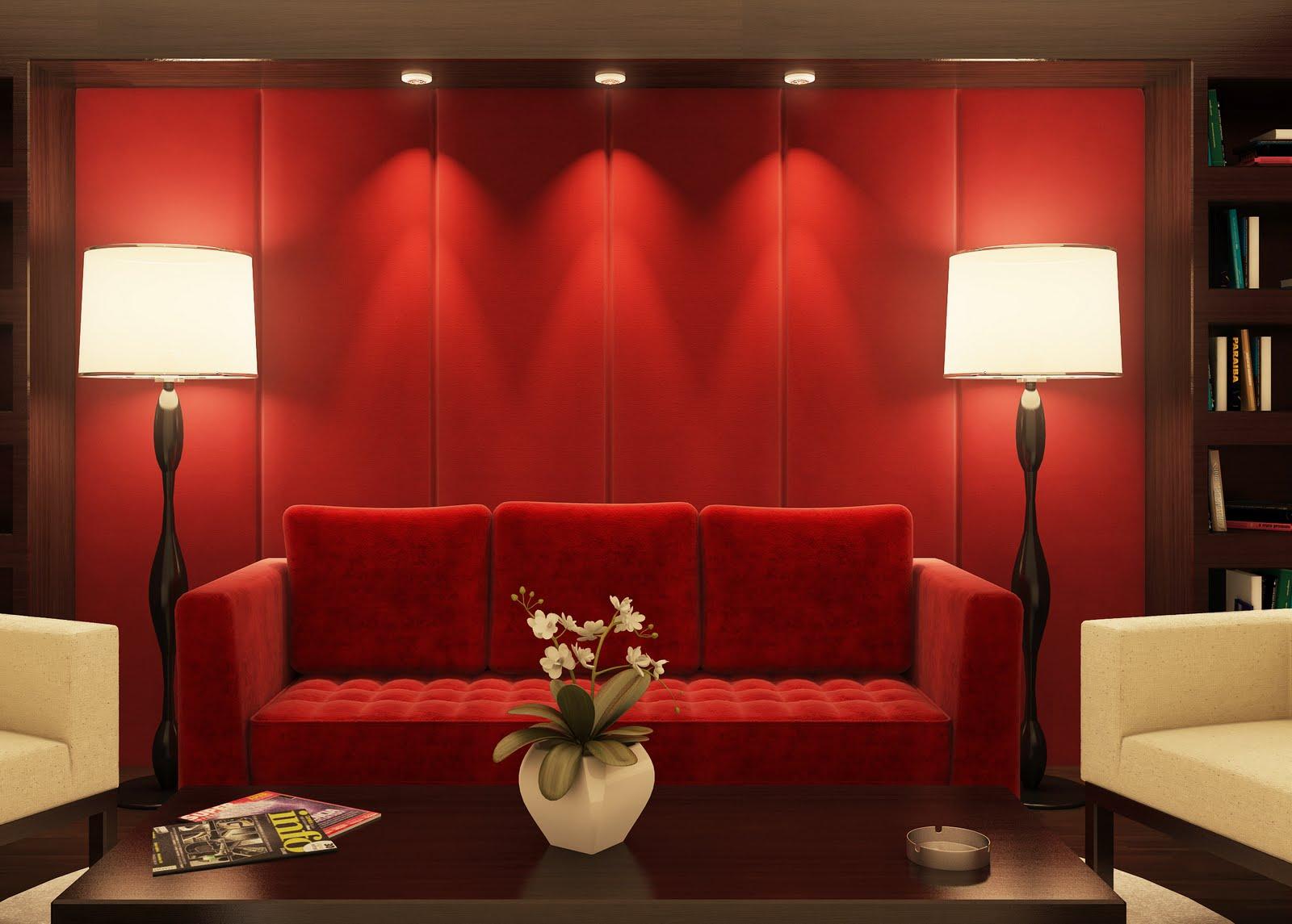 Decoracao De Sala Vermelho ~ Inspiração de hoje O vermelho na decoração da casa