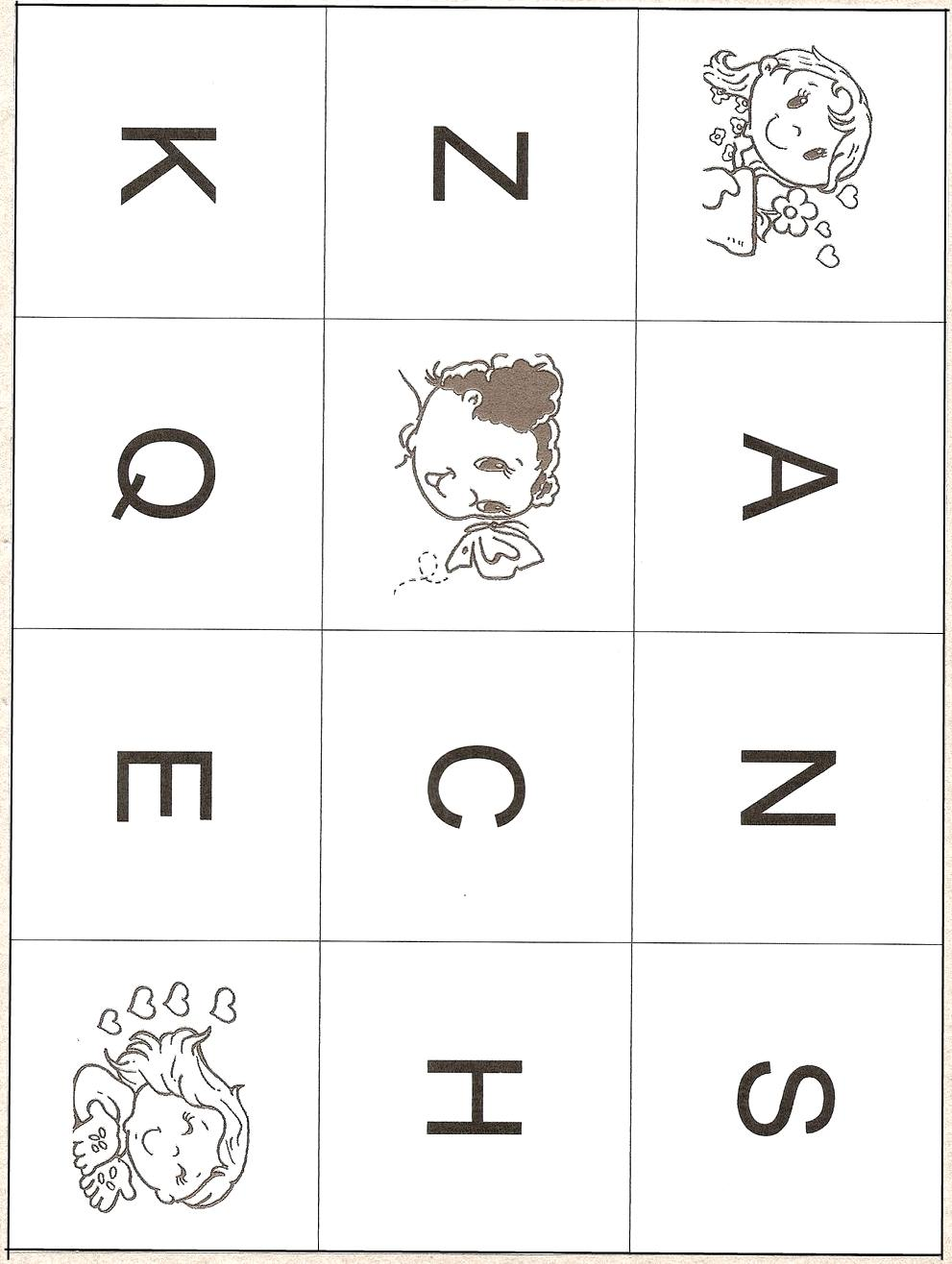 Fichas de Inglés para niños: Alphabet Bingo !