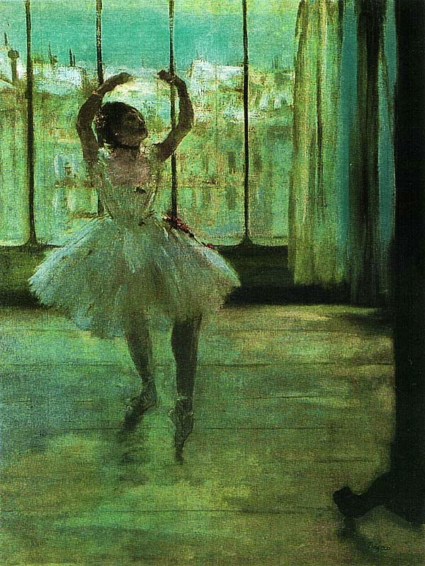 Эдгар Дега. Танцовщица у фотографа. 1875.