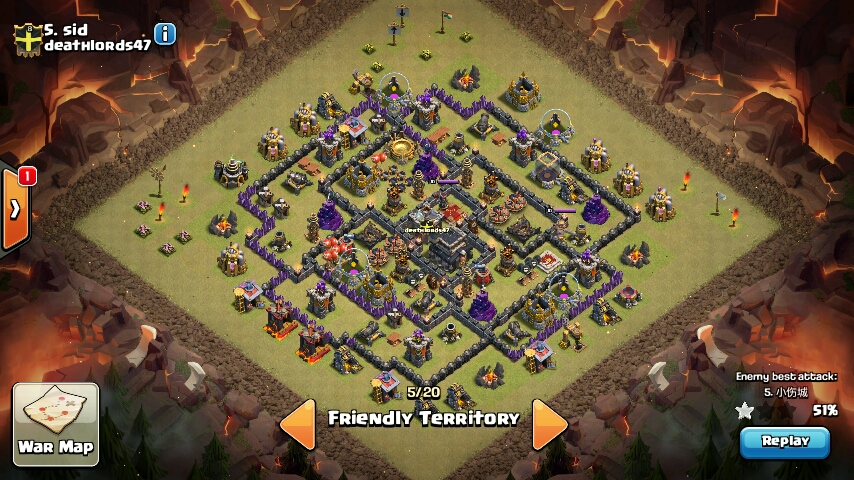 Layout for perfect defence best th9 warbase layout for war victory