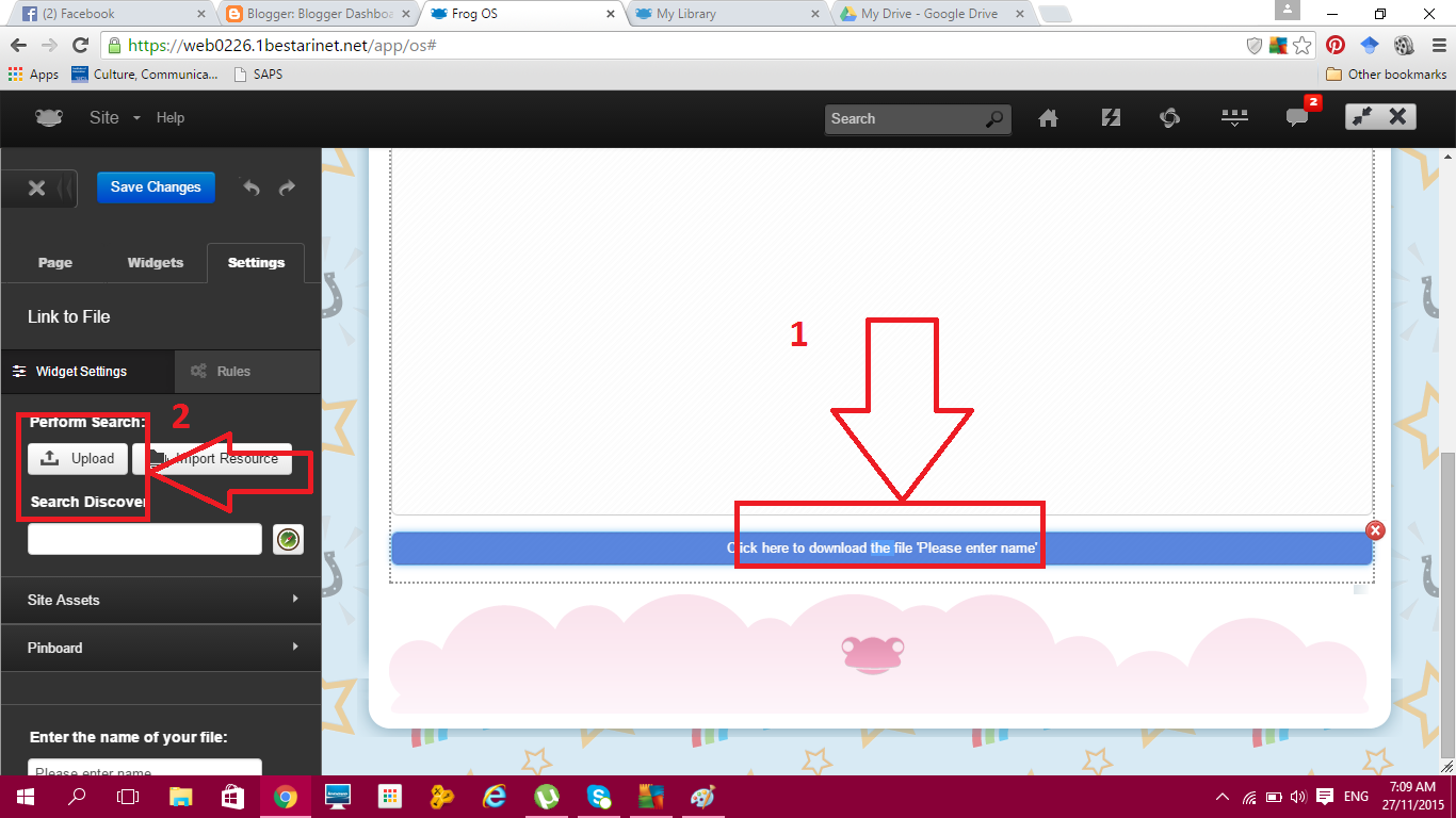 how to use frog vle