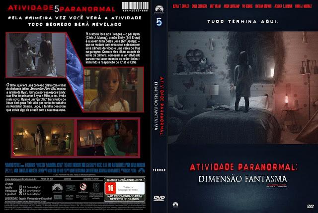 Capa DVD Atividade Paranormal Dimensão Fantasma