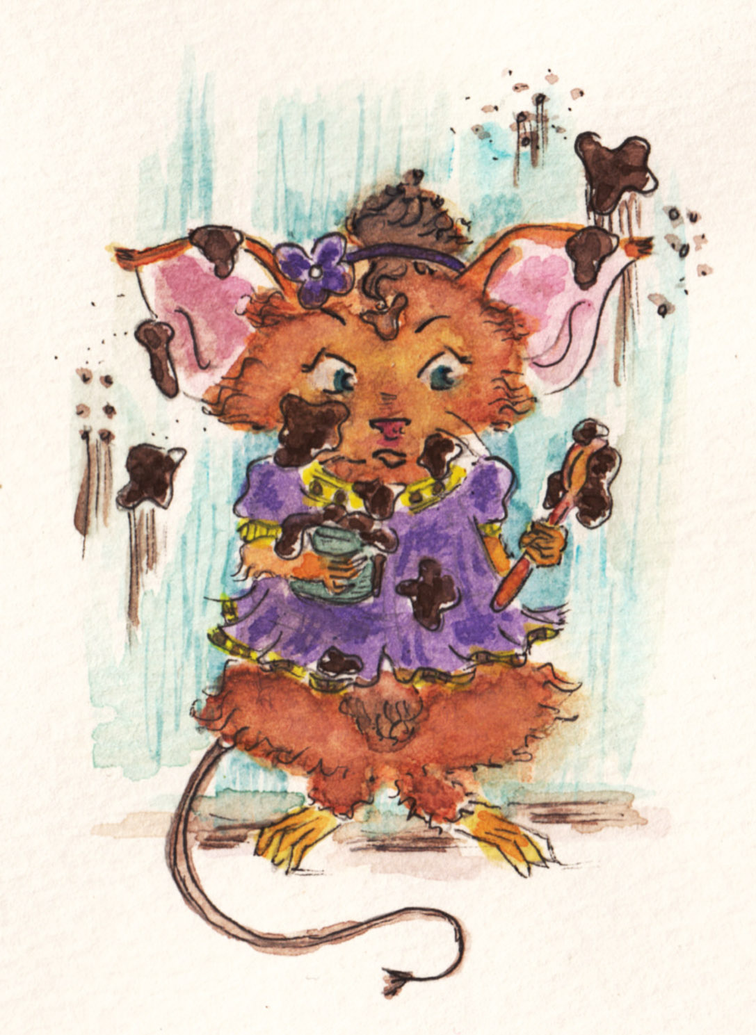 itching illustrator  messy mouse
