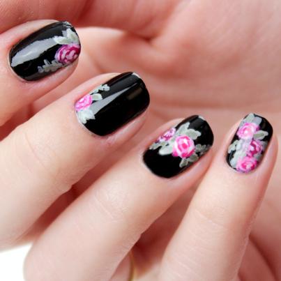 Imagenes de uñas decoradas con diseños bonitos 2015, flores ...
