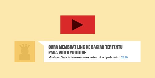 Cara Membuat Link Video Youtube pada Waktu atau Bagian Tertentu