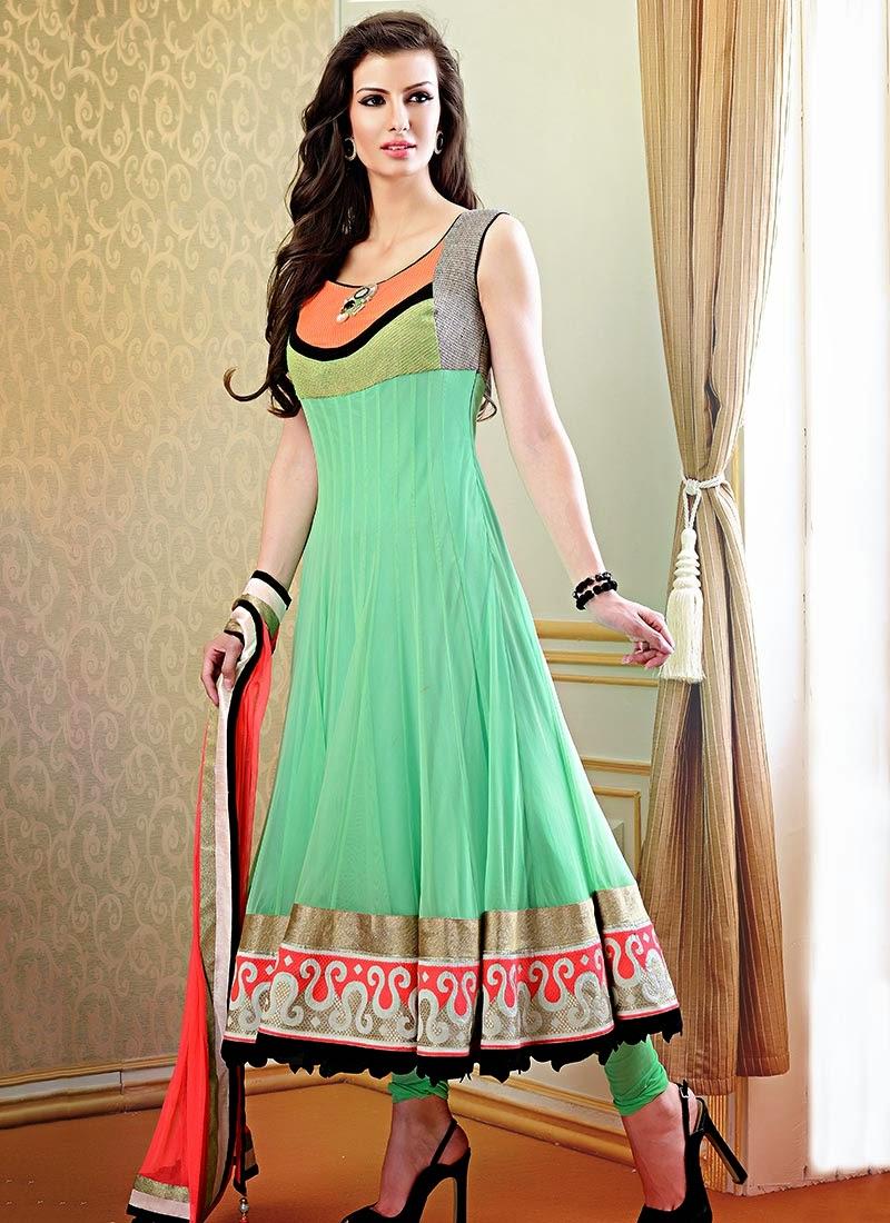 Gorgeous Fancy Wedding Anarkali Dresses 2013 - latest fashion