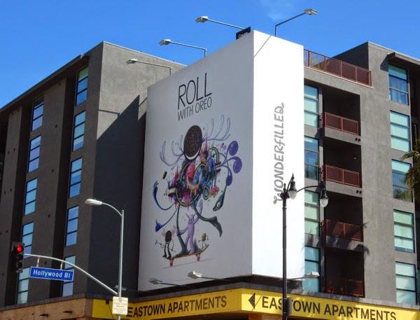 Roll with Oreo Wonderfilled billboard
