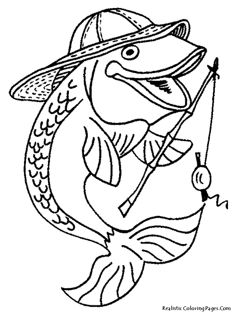 This is a picture of Zany Printable Fishing Coloring Pages