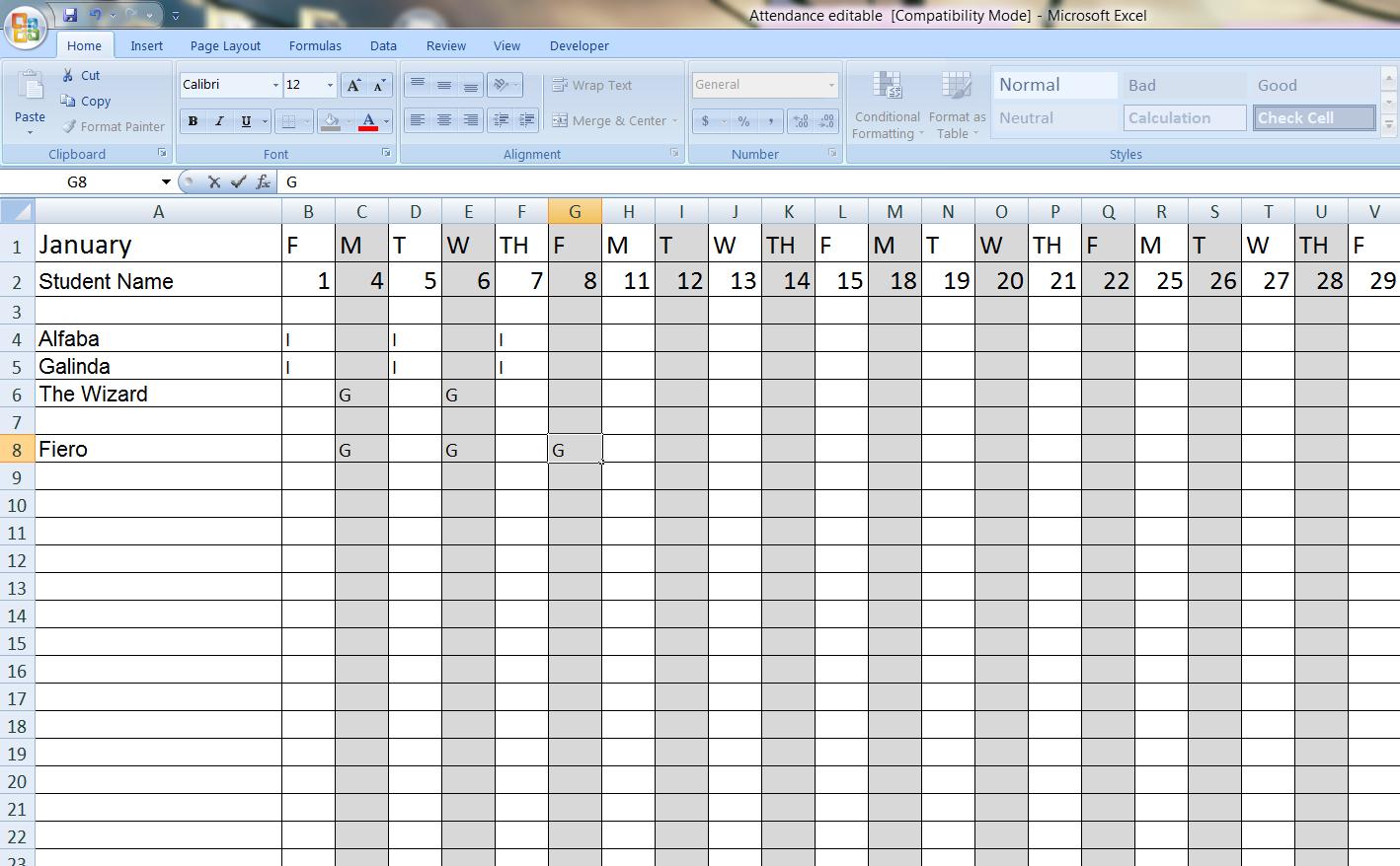 Excel 2010 Survey Template