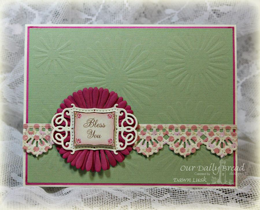 Stamps - Our Daily Bread Designs Blushing Rose Collection, ODBD Custom Aster and Leaves Dies,  ODBD Custom Vintage Flourish Pattern Die, ODBD Custom Beautiful Borders Die