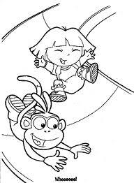 Coloriage De Dora Et Babouche - Dora l exploratrice et Babouche en coloriage à imprimer