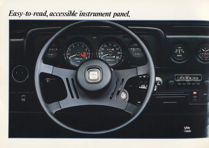 suzuki sc100, wnętrze samochodu, ciekawe małe auta, klasyczne samochody z lat 80