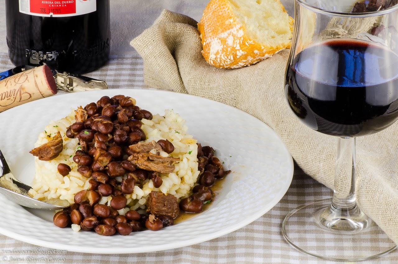 Alubias negras con arroz y carne for Cocinar judias negras