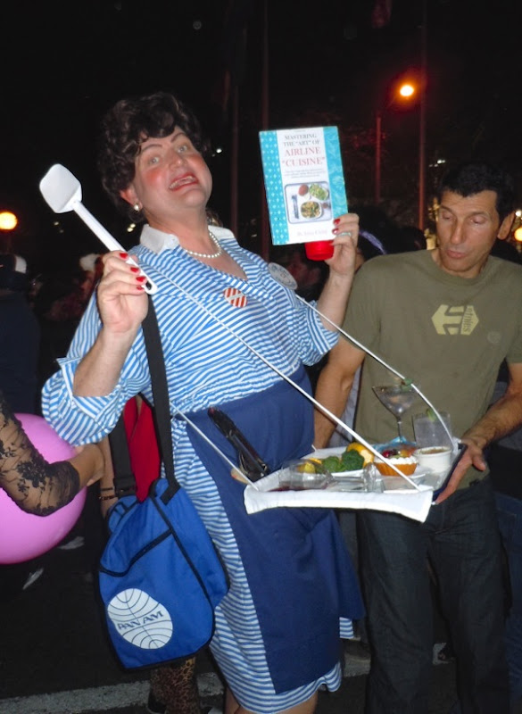Julia Child drag costume West Hollywood Halloween 2011