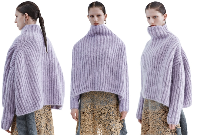 Acne Studios Pre-Fall 2015 Baylay Cozy Knit Turtleneck Sweater In A Wool & Mohair Blend