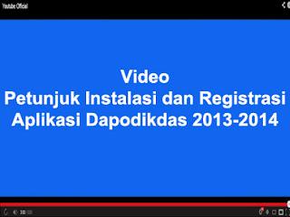 PETUNJUK INSTALASI DAN REGISTRASI APLIKASI DAPODIKDAS 2013
